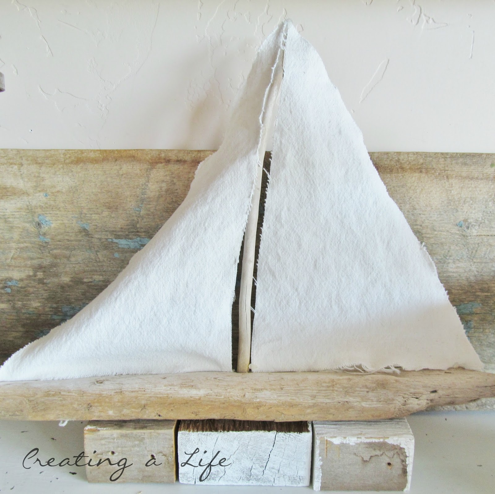 Creating a life summer dining room for Diy driftwood sailboat