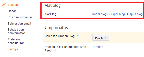 Cara Back Up Semua Data Artikel Blog