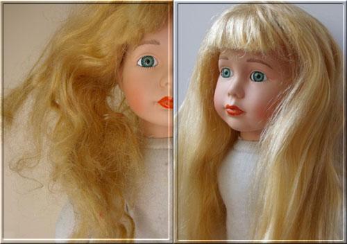 Как сделать кукле волосы прямые