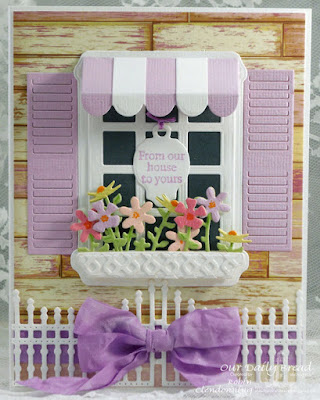 Our Daily Bread Designs, Mini Tag Sentiments, Beautiful Borders, Mini Tags, Gilded Gate, Welcoming Window, Flower Box Filler, Window Shutters and Awning, Rustic Beauty, Designed by Robin Clendenning