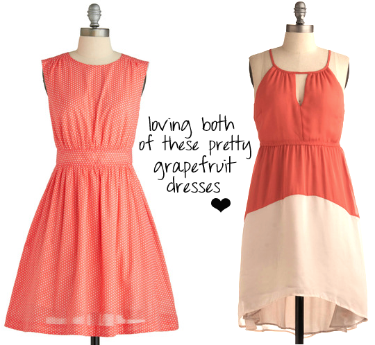 grapefruit dresses