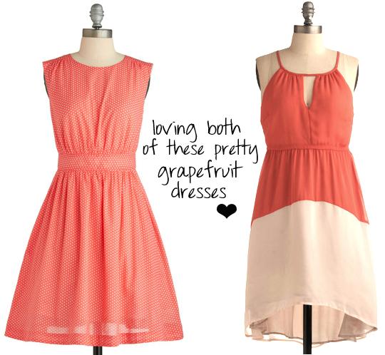 grapefruit dresses