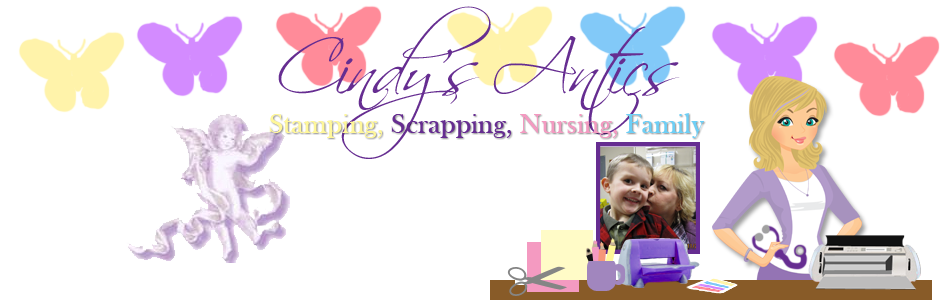 Cindy's Antics!  Stamping, Scrapping, Nursing, Family!!!