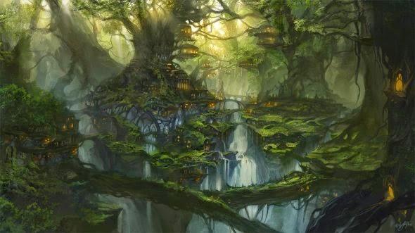 Flavio Bolla deviantart ilustrações fantasia cenários paisagens