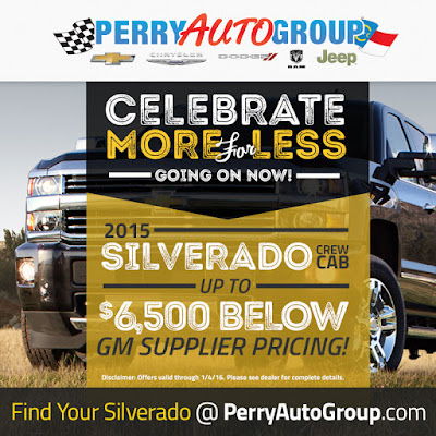 Celebrate More for Less at Perry Auto Group