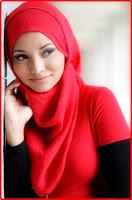 model jilbab merah