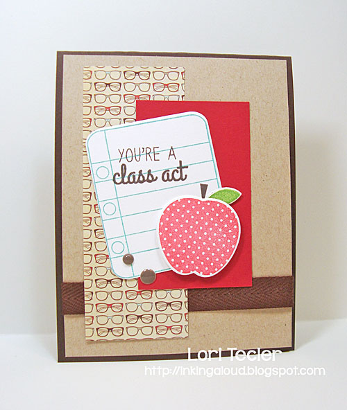 You're a Class Act card-designed by Lori Tecler/Inking Aloud-stamps and dies from Reverse Confetti