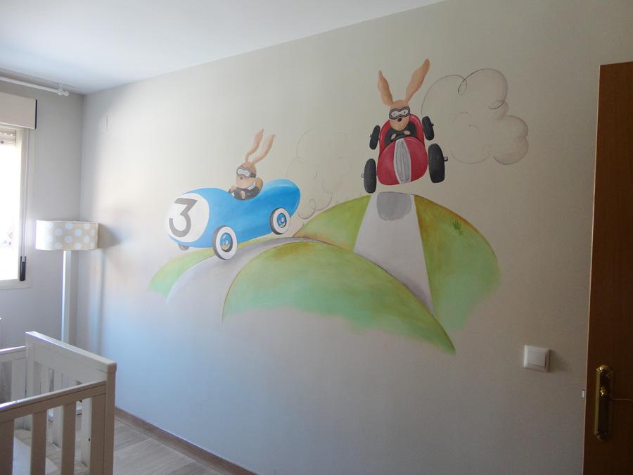 Decopared murales infantiles pintados a mano en paredes - Murales pintados a mano ...
