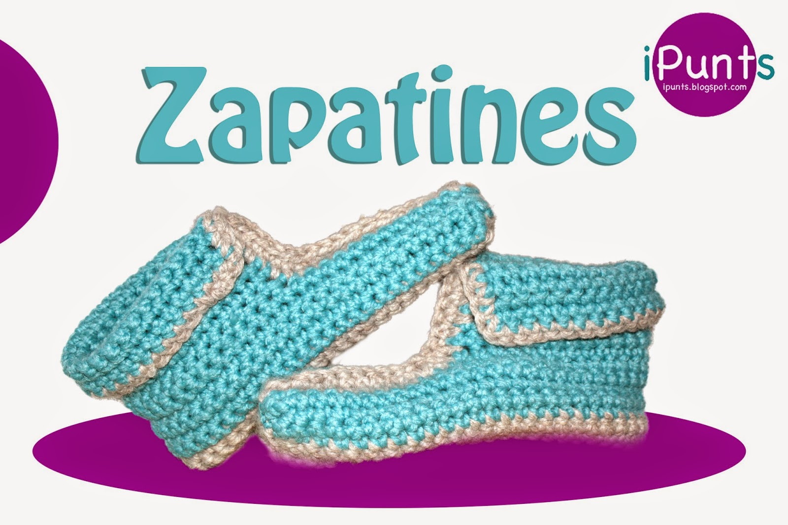 patrón gratis zapatillas crochet ganchillo ipunts
