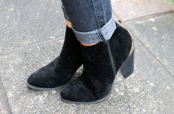 Surfdome suede black ankle boots