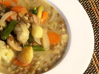 Thai Green Curry Lentil and Vegetable Soup