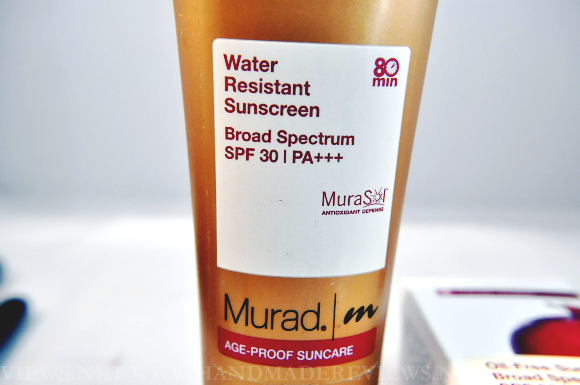 Murad Waterproof Sunblock SPF 30 Review