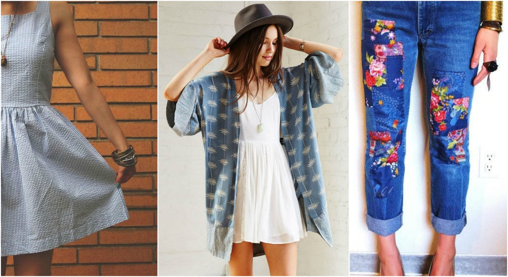 blue clothing kimono dress summer jeans florals