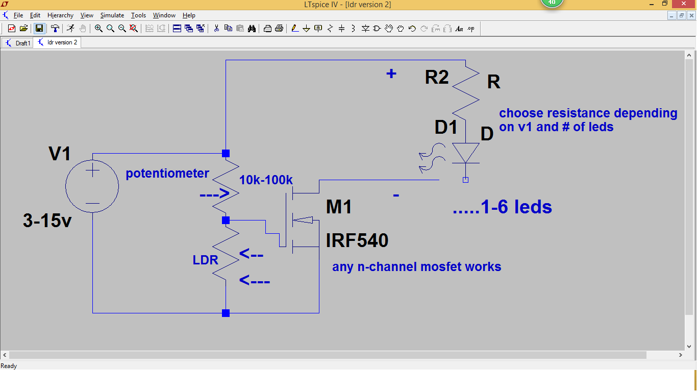 Sensor Projects: Automatic Dusk Light using LDR and Mosfet Version#2 ...
