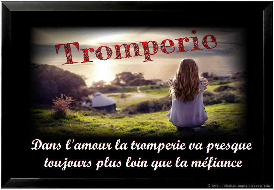 Citation tromperie en image