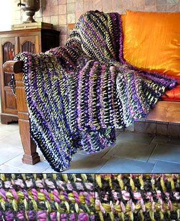 ChemKnits: 10 Hour Afghan Pattern - My Remnant Throw Blanket
