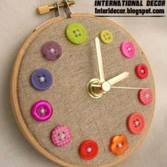 Unusual Wall Clocks With Your Hands, Diy Wall Clock Ideas 2014