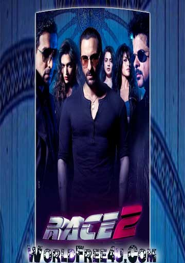 Poster Of Hindi Movie Race 2 (2013) Free Download Full New Hindi Movie Watch Online At worldfree4u.com