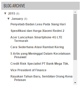 Cara Memasang Scroll Arsip Blog