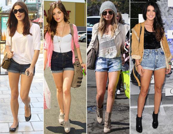 Estilo em Dobro: short jeans cintura alta