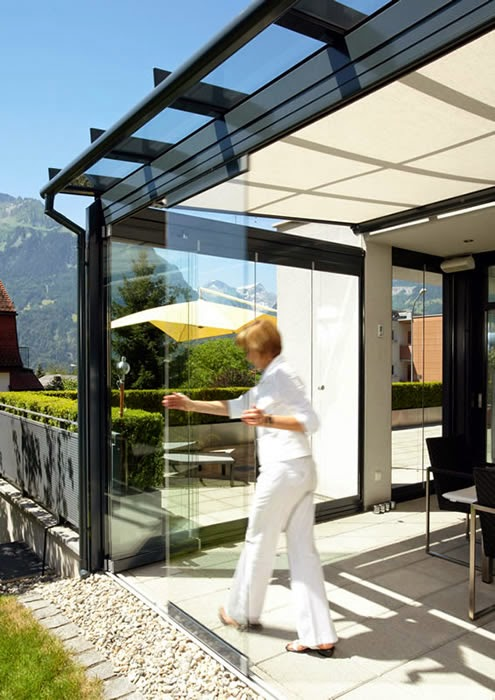 dramatic sliding doors separate. However, Unlike Folding Glass Doors, The Elements Of A Horizontal Sliding Wall Are Pushed Into Discrete Niche (the So-called Parking Area), Dramatic Doors Separate