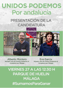 Presentación de la candidatura de UNIDOS PODEMOS POR ANDALUCÍA  en Málaga