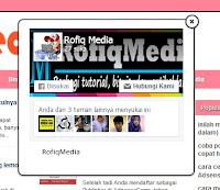 widget like fanspage facebook melayang di blog
