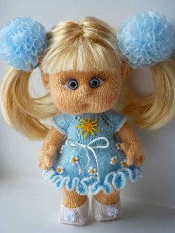 Вяжем куклу спицами