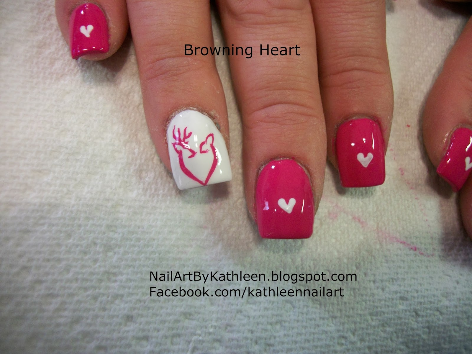 Nail Art By Kathleen: Browning Heart Valentine\'s Day Nail Art