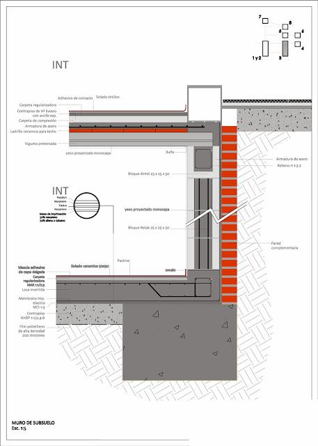 DETALLE SUBMURACION MURO SUBSUELO CONSTRUCCIONES CASTELLANO 1