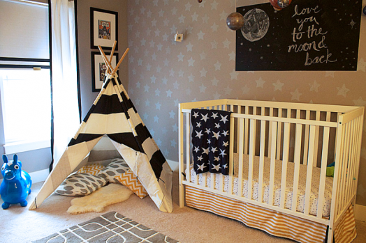 Dormitorio para Bebes con Estrellas