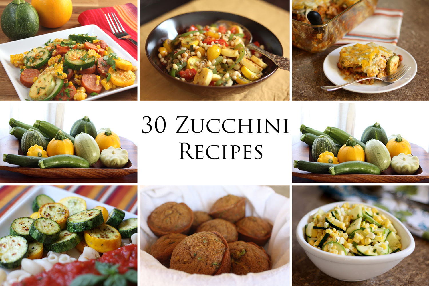 30 Must Try Zucchini Recipes - breads, breakfasts, main dishes, and sides! by Barefeet In The Kitchen