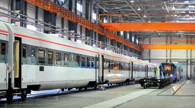 Фото Укринформ:поезда