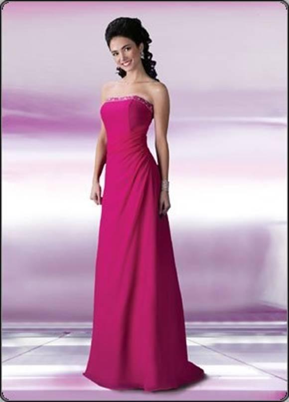 Pemberenkelbisemodelleri - en güzel pembe renk elbise modelleri
