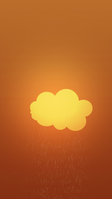 retina wallpaper brown colour with rain effects