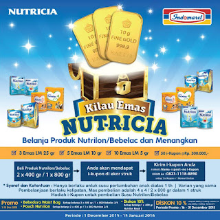 Info Undian - Kilau Emas Nutricia, Menangkan Emas LM Total 75Gr