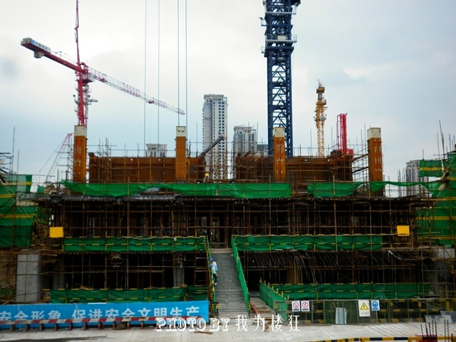 Construction picture of Tianjin 117 Tower (Goldin Finance 117) by P&T Group