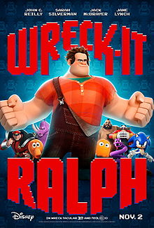 Film poster for Wreck-It Ralph disneyjuniorblog.blogspot.com