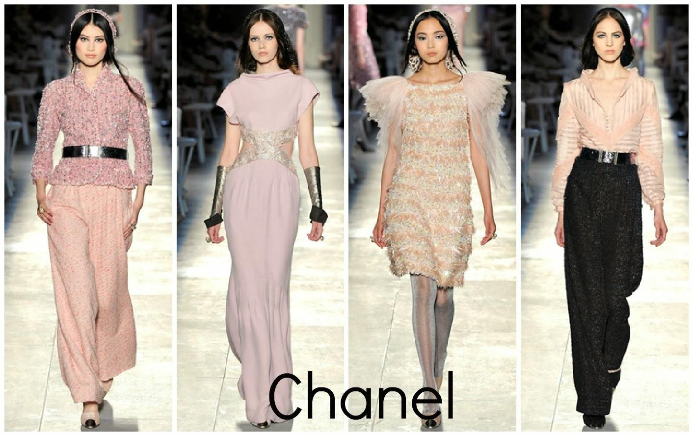 Couture Fashion   Coco Chanel Blue Dress
