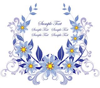 美しい花輪のクリップアート Wreath vector イラスト素材