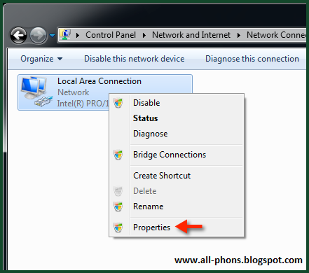 how to change public ip address in windows 7
