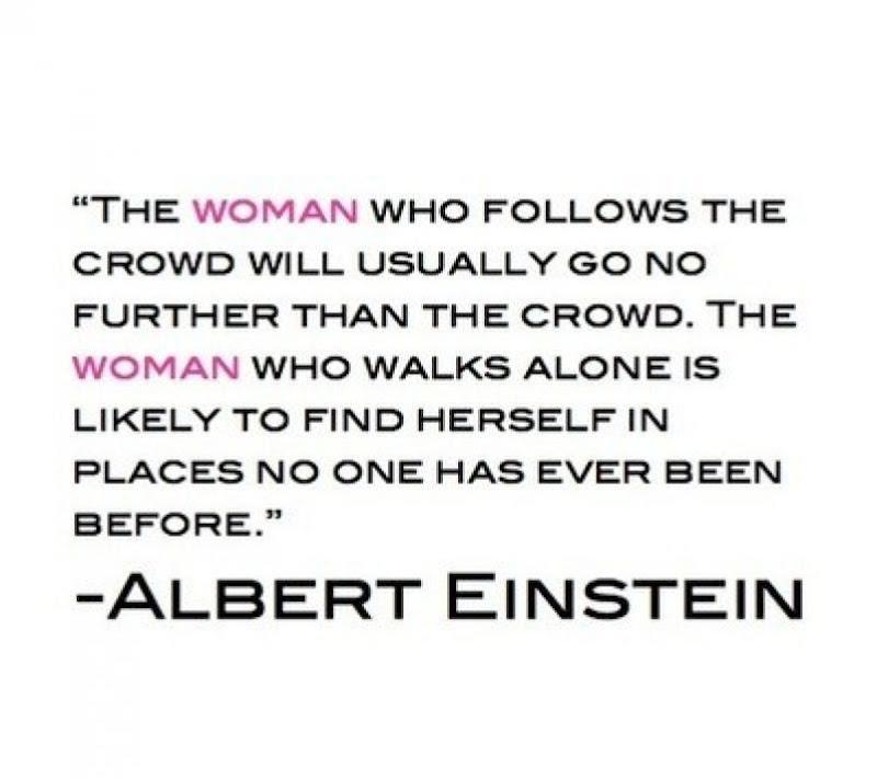Albert Einstein Quote About Women