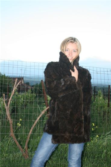 scrap mink fur coat