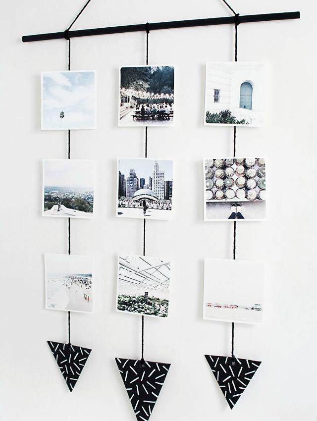 Decoraci n f cil diy colgante de pared con fotograf as - Ideas para poner fotos ...