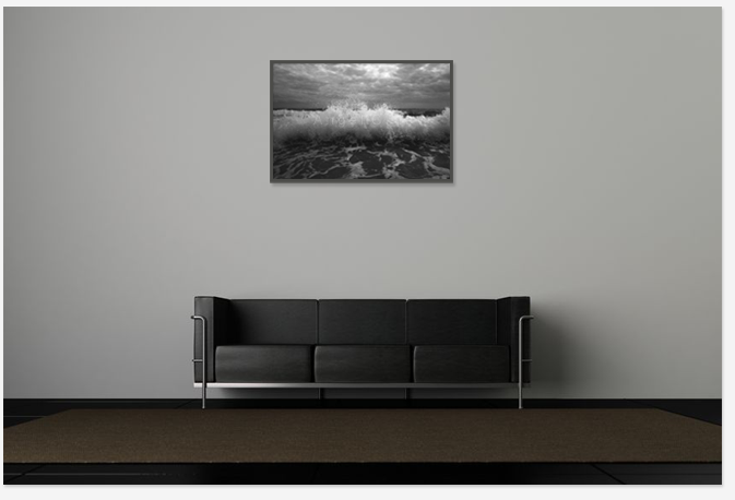 Decor with art print photography in black and white
