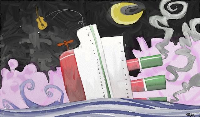Gava gavavenezia satira vignette illustrazione caricatura fumetto ridere gavagnin marco illustratore disegno Gava gavavenezia satira vignette illustrazione caricatura fumetto ridere gavagnin marco illustratore disegno  ititanic degregori de gregori pd sinistra addio