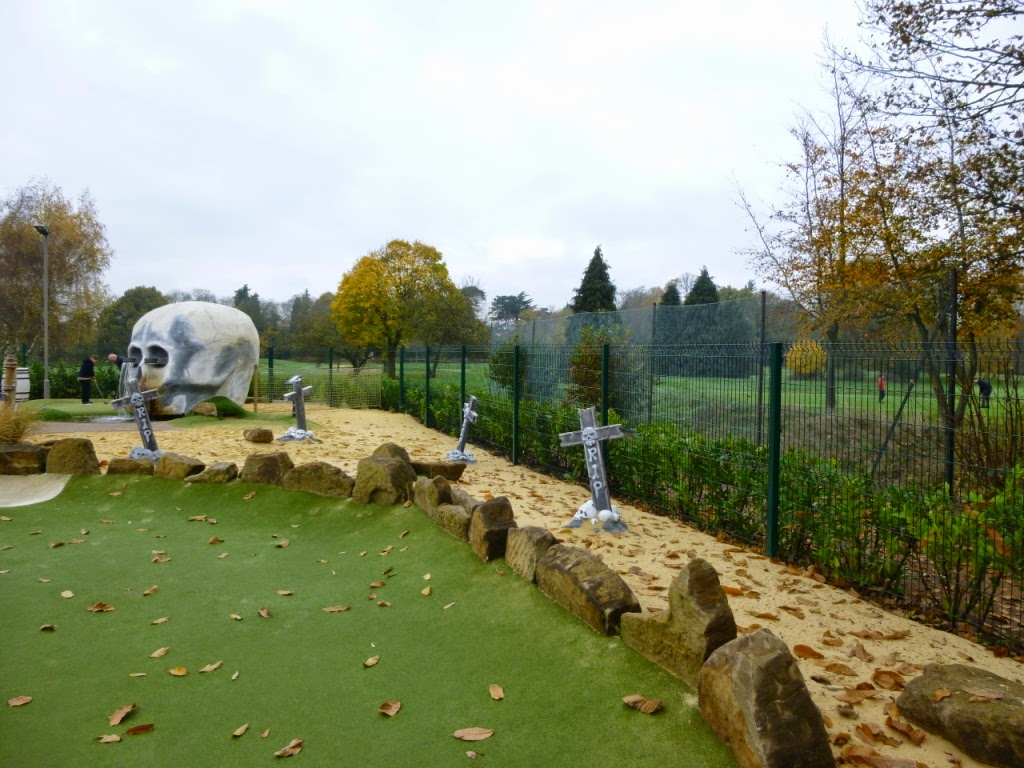 Pirate Island Adventure Golf course at Hoebridge Golf Centre in Woking, Surrey