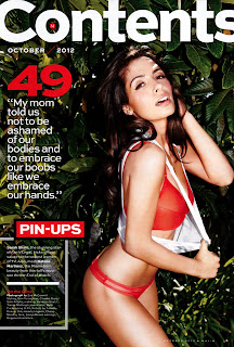Sarah Shahi looks hot in red lingerie