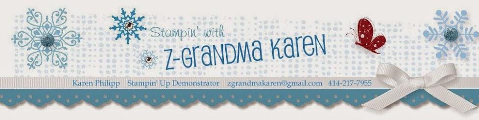 Stampin with Z-Grandma Karen