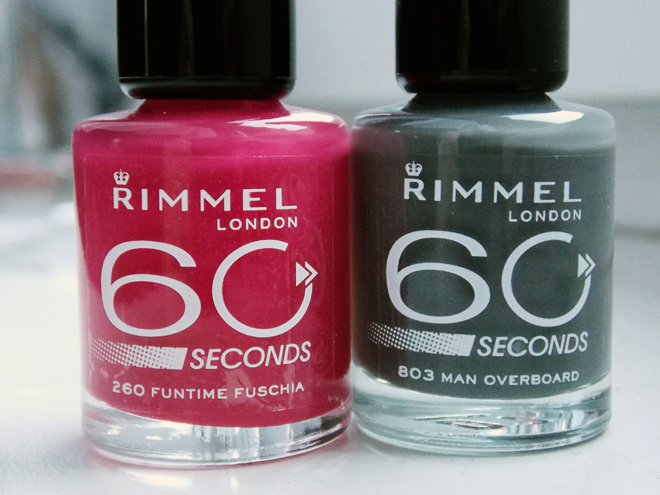 Rimmel London 60 seconds nail polishes